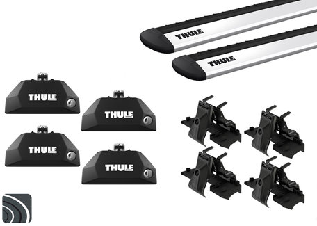 Thule dakdragers | Mini 5-deurs | F55 vanaf 2014 | Dichte railing | WingBar