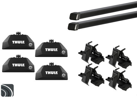 Thule dakdragers | Mitsubishi ASX | vanaf 2010 | Dichte railing | Squarebar