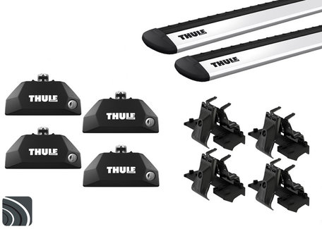 Thule dakdragers | Kia Carens | vanaf 2013 | Dichte railing | WingBar