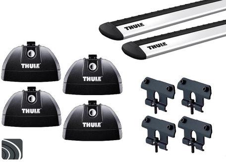 Thule WingBar dakdragers | Fiat Panda vanaf 2011 | Dichte rails