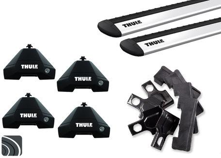 Thule Evo dakdragers | BMW X4 | F26 van 2014 tot 2018 | Glad dak | WingBar (Evo)