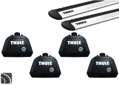 Thule Evo dakdragers | Volvo V70 | 2007 tot 2016 | Dakrailing | WingBar Evo
