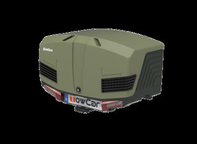 TowBox V3 | Camper Gray - Green Edition | Trekhaakkoffer | 400L