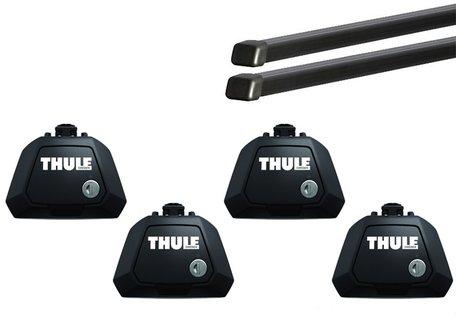 Thule dakdragers | Chevrolet Nubira Wagon van 2005 tot 2010 met dakrailing | Squarebar Evo