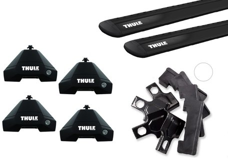 Thule dakdragers | Honda Civic | sedan vanaf 2017 | WingBar Evo Black