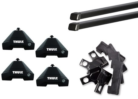 Thule dakdragers | Honda Civic | 5-deurs van 2012 tot 2017 | SquareBar Evo