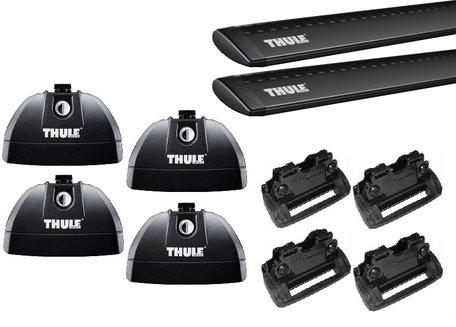 Thule dakdragers | Honda HR-V vanaf 2015 | WingBar Evo Black | Geïntegreerde railing