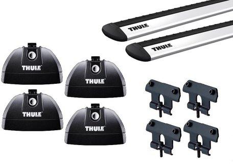 Thule dakdragers | Hyundai Santa Fe | 2006 tot 2012 | WingBar Evo | Geïntegreerde railing