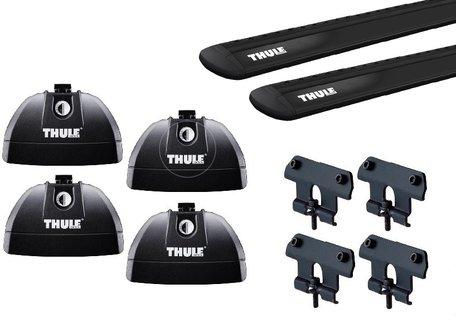 Thule dakdragers | Hyundai Santa Fe | 2006 tot 2012 | WingBar Evo Black | Geïntegreerde railing