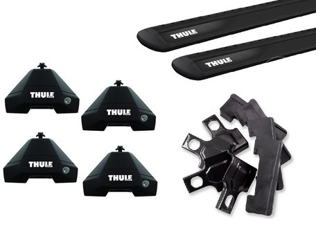Thule dakdragers | Polestar 2 | WingBar Evo Black