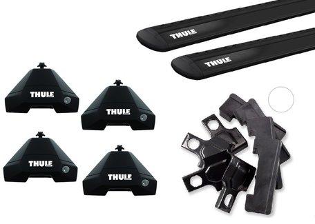 Thule WingBar Evo Black  | Subaru WRX | 2014 tot 2017 | Glad dak