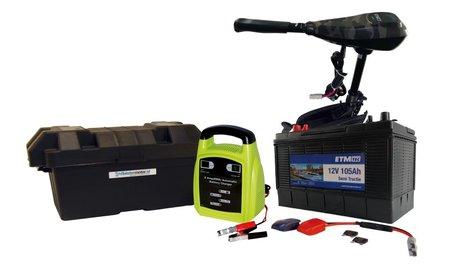 ETM-TEC Azure 60 lang | Fluistermotor | Standaard set | 60 lbs | Camouflage
