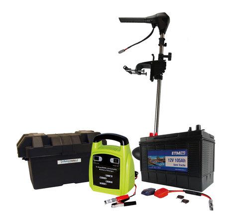 ETM-TEC Aqua 80 kort | Fluistermotor | Standaard set | 80 lbs