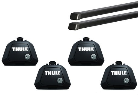 Thule dakdragers | Ford Explorer | vanaf 2020 | Dakrailing | Squarebar Evo
