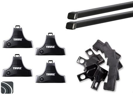 Thule dakdragers voor Nissan Note van 2006 tot 2013 | Complete dakdrager set incl. sloten