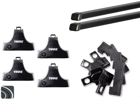 Thule dakdragers Toyota Verso-S vanaf 2011 | Complete set incl. sloten
