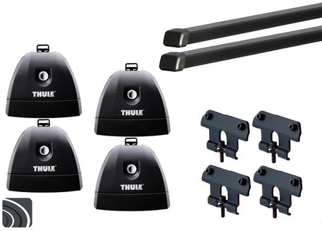 Thule dakdragers | Volkswagen Transporter T5 | 2003 tot 2015 | T-profiel | Squarebar