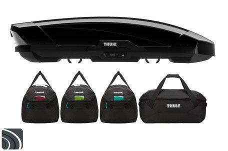 Thule Motion XT XL dakkoffer | Black Glossy | Thule GoPack tassenset