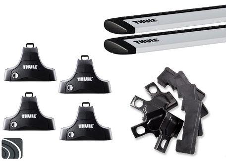 Thule dakdragers   Ford Mondeo sedan   2000 tot 2007   Glad dak   WingBar