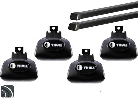 Thule dakdragers | Ford Focus Wagon | 2005 tot 2007 | Dakrailing | Squarebar