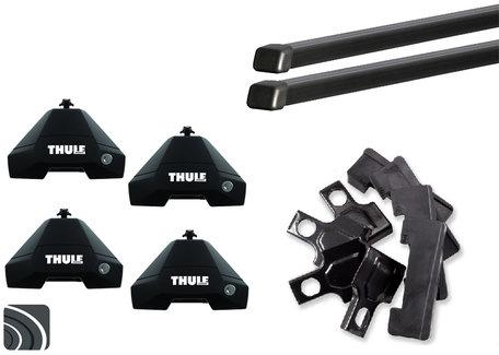 Thule Evo dakdragers | Audi A4 | sedan vanaf 2015 | SquareBar