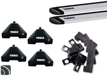 Thule Evo dakdragers | Fiat Punto Evo | 5-deurs van 2009 tot 2012 | WingBar (Evo)