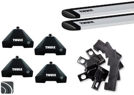 Thule Evo dakdragers | Fiat Punto | 5-deurs vanaf 2012 | WingBar (Evo)