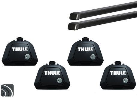 Thule Evo dakdragers | Volvo V70 | 2007 tot 2016 | Dakrailing | Squarebar