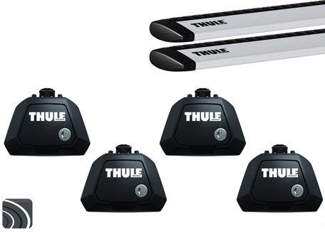 Thule Evo dakdragers | Volvo V70 | 2007 tot 2016 | Dakrailing | WingBar