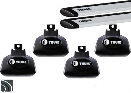 Thule dakdragers | Volvo V50 | 2004 tot 2012 | Dakrailing | Wingbar