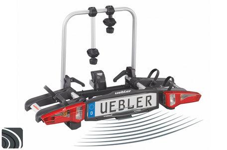 Uebler i21 90º DC (15930 DC) | Trekhaak fietsendrager | parkeersensoren | 2 (elektrische) fietsen