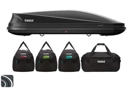 Thule Touring L dakkoffer | Anthracite Aeroskin | met Thule tassenset