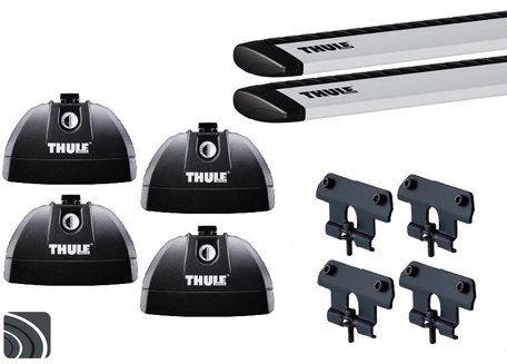 Thule dakdragers | Peugeot 5008 | 2009 tot 2017 | Dichte rails | WingBar
